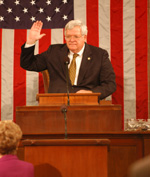 Speaker Hastert Sworn into his Fourth Consecutive Term As Speaker