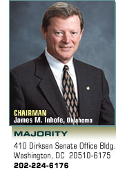 Chairman: James M. Inhofe, Oklahoma