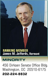 Ranking Member: James M. Jeffords, Vermont