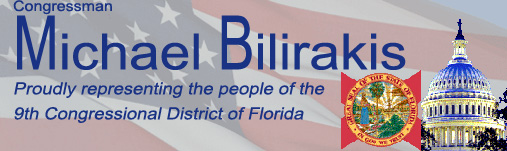 Congressman Michael Bilirakis.  Proudly representing the people of the 9th Congressional District of Florida