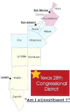 28th Congressional District of Texas click on your County to visit their Web site or Am I a Constituent to find out if you are a Constituent of the 28th Congressional District of Texas