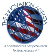 Logo for the Innovation Agenda: a commitment to competitiveness to keep America #1