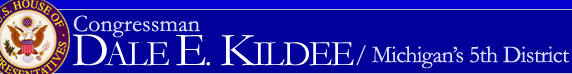 Banner: Congressman Dale E. Kildee / Michigan's 5th District