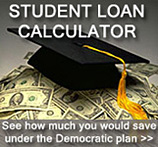 Student Loan Calculator: See how much you would save under the Democratic plan >>