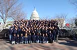 Mike with students from Gaither High School in front of the United States Capitol Building