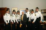 Mike with honor guard from the Pasco County Sheriff's office