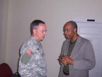 May 29, 2008 -- Congressman Jefferson with Major General Hunt Downer during a recent tour of Jackson Barracks