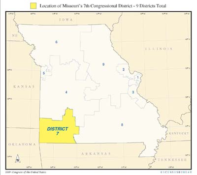 Missouri - District 7 Map
