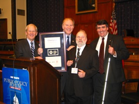 Congressman Steve Chabot (R-OH) receives a JWOD Champion award.