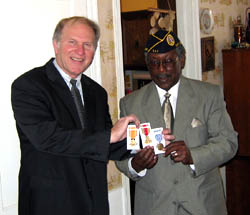 Congressman Chabot presents Mr. Jesse McKinney, of College Hill, with medals he earned through his service in the U.S. Navy during World War II