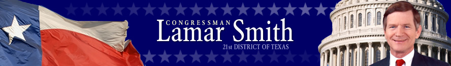 Congressman Lamar Smith 21st District of Texas