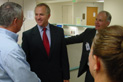 Steve Buyer meets with staff at Bloomington Hospital