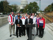 Steve Buyer speaks in front of U.S. Capitol with Olympic Athletes