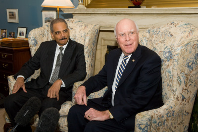 Leahy and Holder met in Leahy's Washington office for a private meeting on December 8.