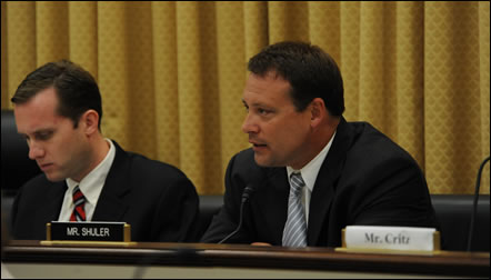 Congressman Shuler during a Small Business Committee hearing