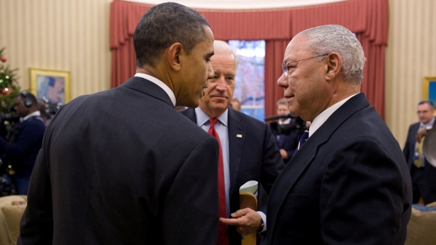 President Obama and General Colin Powell