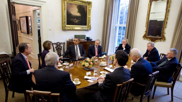 The President holds a bipartisan meeting