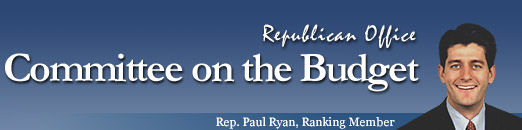 Republican Office, Committee on the Budget, Rep. Paul Ryan, Ranking Member