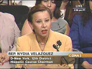 Rep. Velazquez testifies at Sotomayor Confirmation Hearing