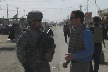 Visiting Troops in Iraq