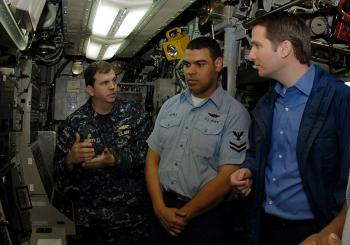 On the USS Albany (SSN 753)