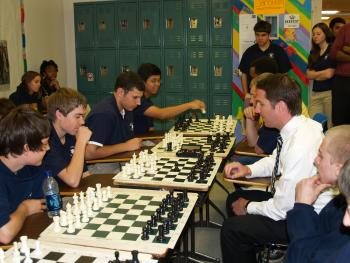 Playing Chess with Students in Norfolk