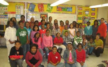 Rep. Edwards with Ms. Emerson's 5th Grade Class at Glenarden Woods Elementary School