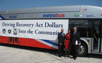Congresswoman Edwards, Transportation Secretary LaHood, and Peter Rogoff, Administrator for Federal Transit Administration