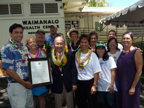 Senator Inouye visits the Waimanalo Health Clinic