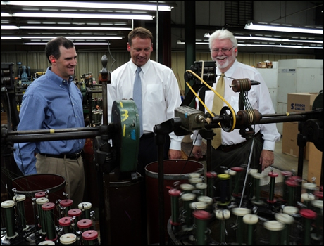 Rep. Shuler tours Mills Manufacturing in Weaverville, NC