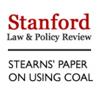 Stanford Law & Policy Review: Stearns' Paper on Using Coal