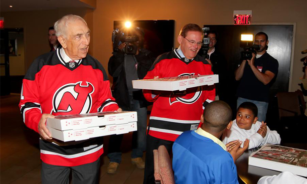 Menendez, Lautenberg Share Pizza Winnings From  Bet With Youth Players