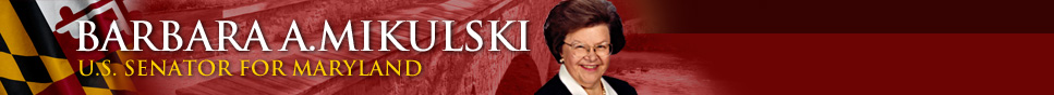 Barbara A. Mikulski - U.S. Senator for Maryland