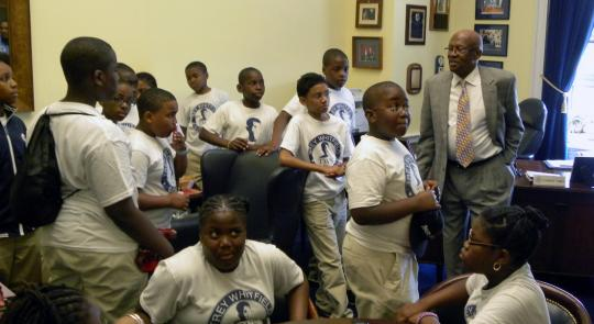 Rep. Towns Welcomes Brooklyn's Trey Whitfield School to DC feature image