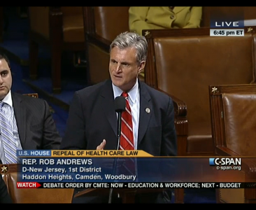 Congressman Andrews speaks on the House Floor in defense of President Obama's healthcare law. feature image