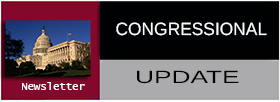 Congressional Update Newsletter with red,black and gray background
