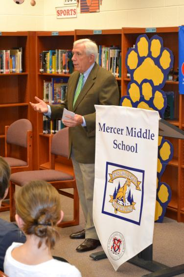Visit to Mercer Middle School