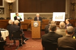 Senator Kohl speaks at the Consumers United for Rail Equity (CURE) event in Washington DC