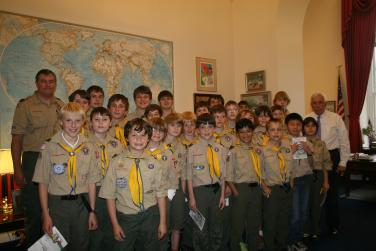10th District Boy Scouts Visit the Capitol