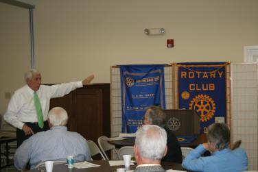Speaking at the Clarke County Rotary Club