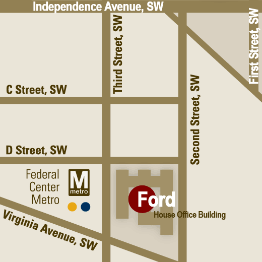 map showing location of Ford Building