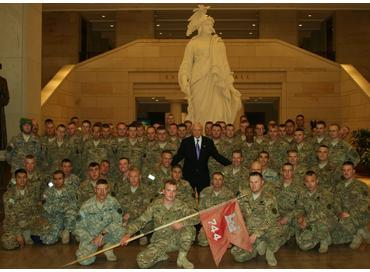 Hatch Speaking with US Army Reserve Troops