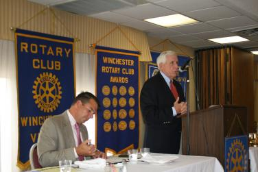 Speaking at the Winchester Rotary Club