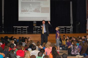 Congressman Olson visits Rogers Middle School in Pearland, Texas