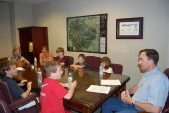 Congressman Olson meets with local kids affected by Type 1 (Juvenile) Diabetes and the Juvenile Diabetes Research Foundation
