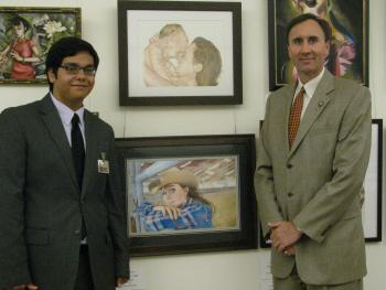 Congressman Olson with Stephen Alcala, the 2010 winner of the Congressional Art Competition