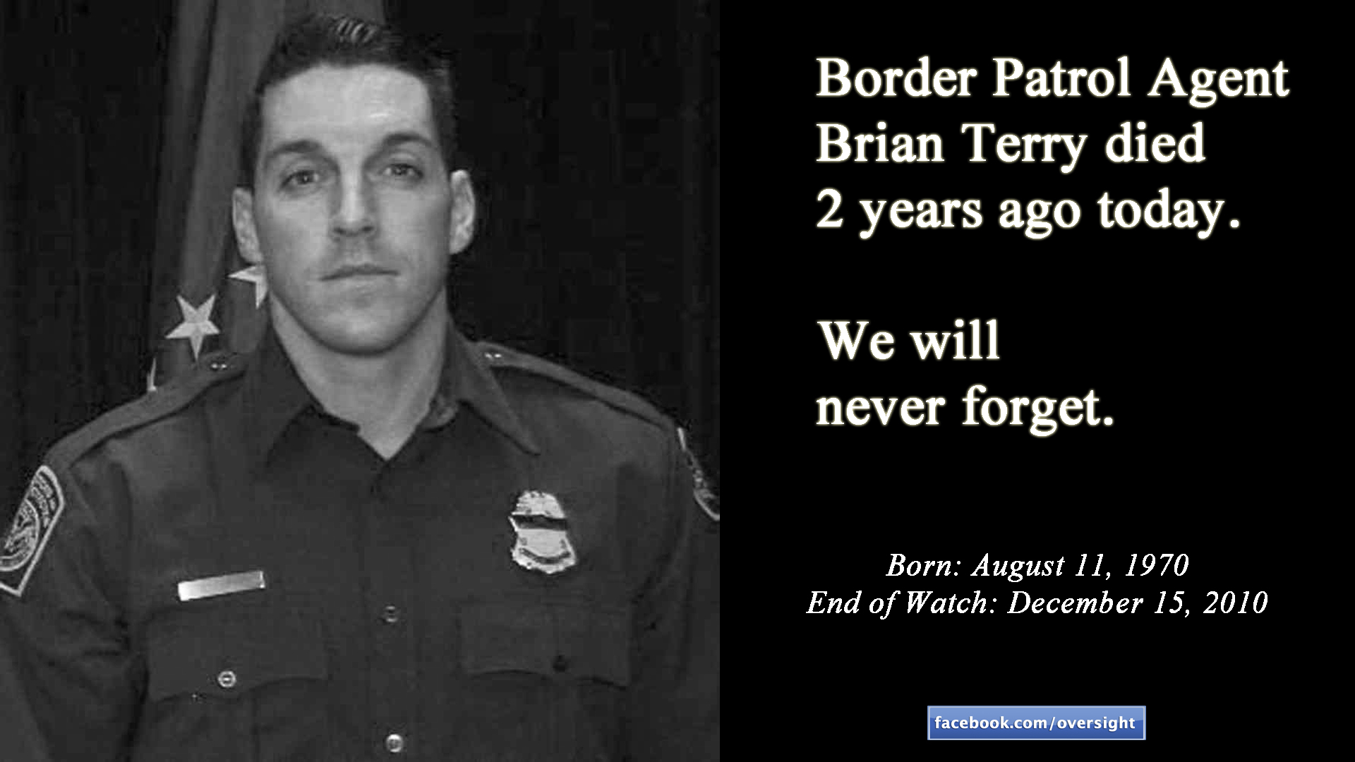 Honoring the Life of Fallen Border Patrol Agent Terry