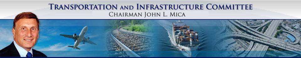 House Transportation and Infrastructure Committee, Republicans, John L. Mica, Ranking Republican
