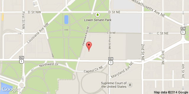 Google map of the Russell Senate Office Building