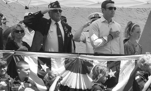 Rep. Hunter attends Memorial Day celebration at Lakeside VFW